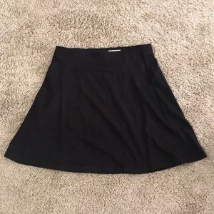 Black cotton flowy skirt